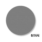 "3.75"" GRAY Solid DOT - Pack of 100 - FloorTapeOutlet.com"