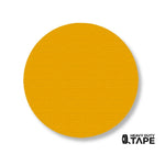 "3.75"" YELLOW Solid DOT - Pack of 100 - FloorTapeOutlet.com"