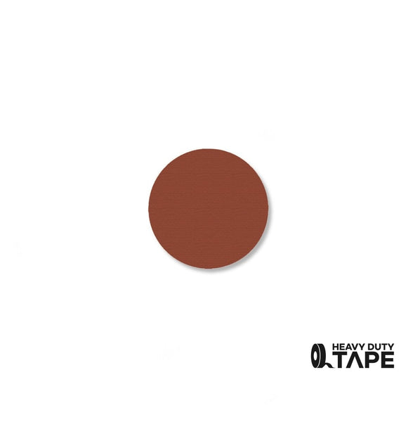 ".75"" BROWN Solid DOT - Pack of 200 - FloorTapeOutlet.com"