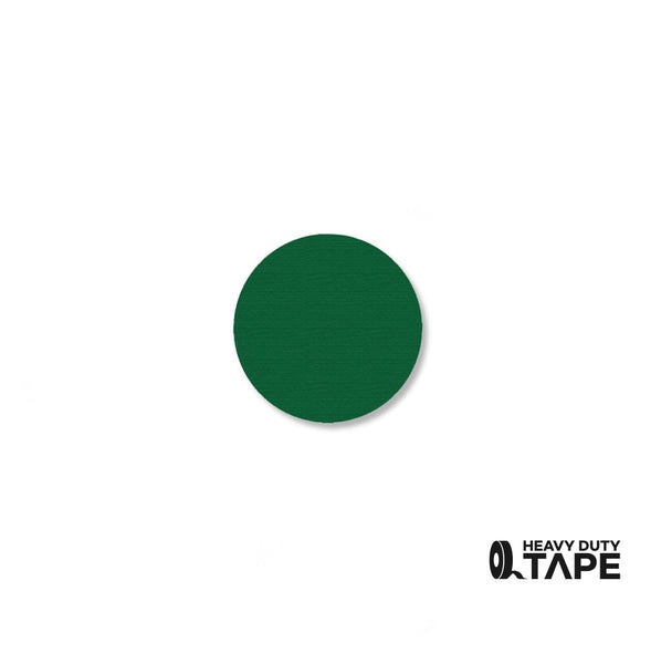 ".75"" GREEN Solid DOT - Pack of 200 - FloorTapeOutlet.com"