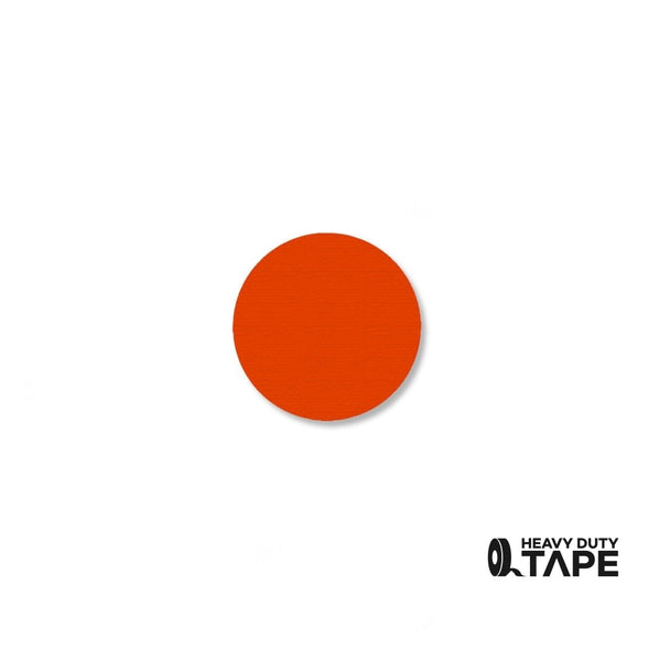 ".75"" ORANGE Solid DOT - Pack of 200 - FloorTapeOutlet.com"