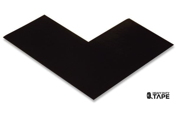 "3"" Wide Solid BLACK Angle - Pack of 25 - FloorTapeOutlet.com"