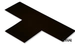 "3"" Wide Solid BLACK T - Pack of 25 - FloorTapeOutlet.com"
