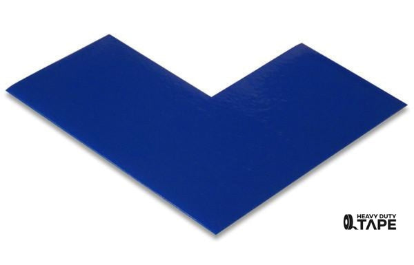 "3"" Wide Solid BLUE Angle - Pack of 25 - FloorTapeOutlet.com"