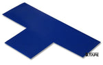 "3"" Wide Solid BLUE T - Pack of 25 - FloorTapeOutlet.com"