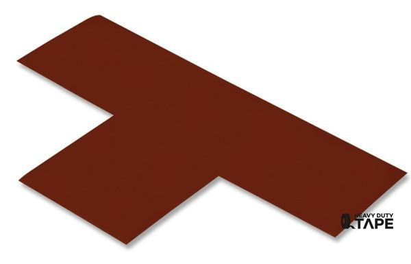 "3"" Wide Solid BROWN T - Pack of 25 - FloorTapeOutlet.com"