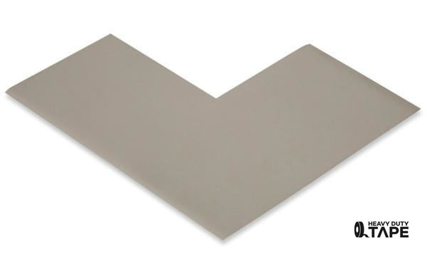 "3"" Wide Solid GRAY Angle - Pack of 25 - FloorTapeOutlet.com"