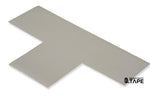 "3"" Wide Solid GRAY T - Pack of 25 - FloorTapeOutlet.com"