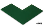 "3"" Wide Solid GREEN Angle - Pack of 25 - FloorTapeOutlet.com"