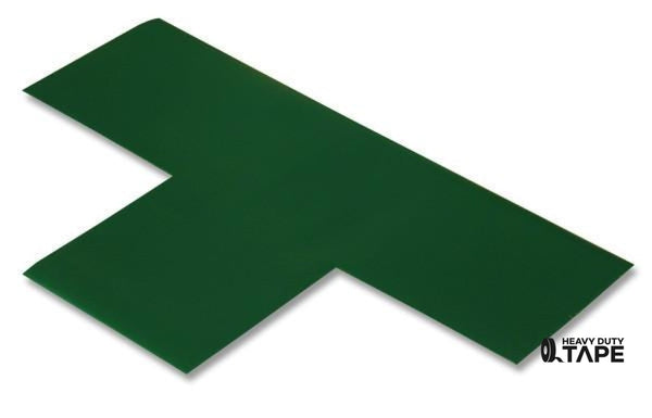 "3"" Wide Solid GREEN T - Pack of 25 - FloorTapeOutlet.com"