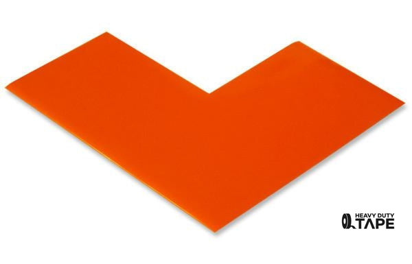 "3"" Wide Solid ORANGE Angle - Pack of 25 - FloorTapeOutlet.com"