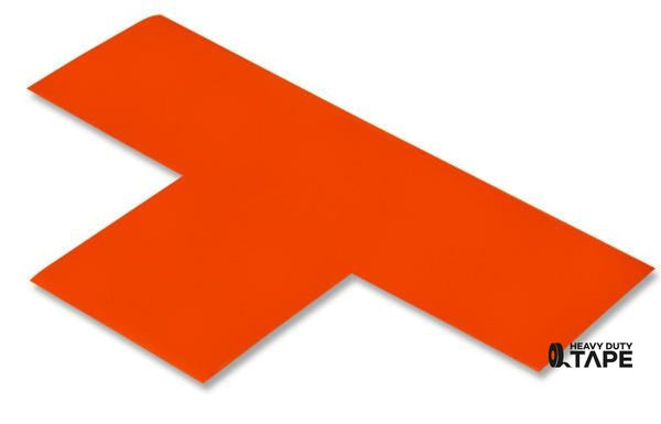 "3"" Wide Solid ORANGE T - Pack of 25 - FloorTapeOutlet.com"