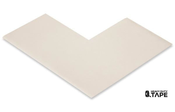 "3"" Wide Solid WHITE Angle - Pack of 25 - FloorTapeOutlet.com"