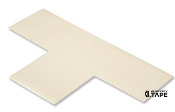 "3"" Wide Solid WHITE T - Pack of 25 - FloorTapeOutlet.com"