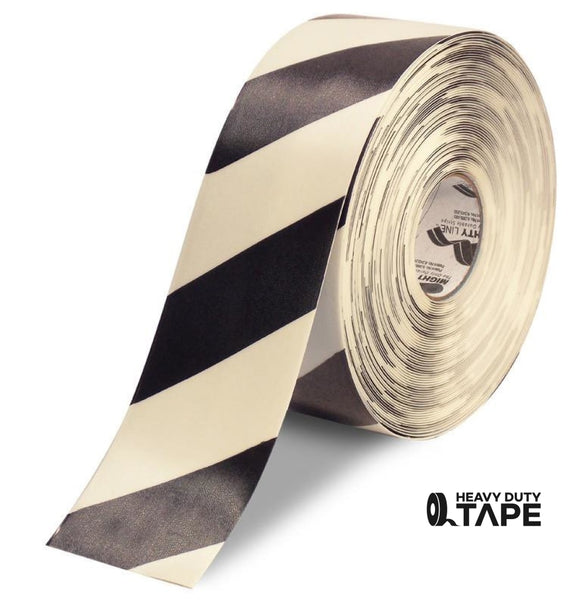 "4"" White Tape with Black Chevrons - 100'  Roll - FloorTapeOutlet.com"