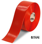 "4"" RED Solid Color Tape - 100' Roll - FloorTapeOutlet.com"