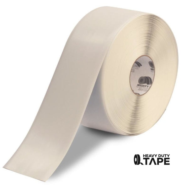 "4"" WHITE Solid Color Tape - 100'  Roll - FloorTapeOutlet.com"