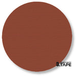 "5.7"" BROWN Solid DOT - Pack of 50 - FloorTapeOutlet.com"
