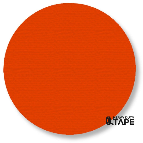 "5.7"" ORANGE Solid DOT - Pack of 50 - FloorTapeOutlet.com"