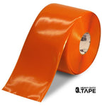 "6"" ORANGE Solid Color Tape - 100' Roll - FloorTapeOutlet.com"