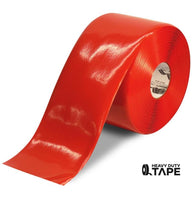 "6"" RED Solid Color Tape - 100' Roll - FloorTapeOutlet.com"