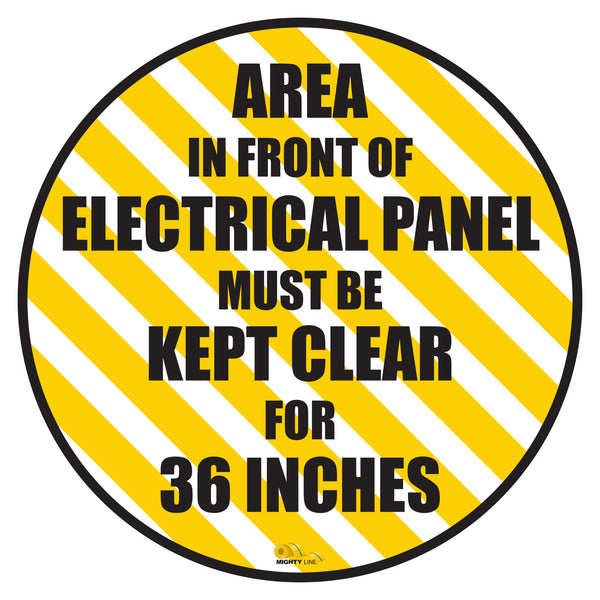 "Keep Area infront of Electrical Panel Mighty Line Floor Sign, Industrial Strength, 36"" Wide"