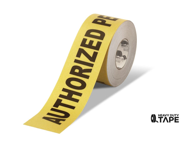 4 Wide Authorized Personnel Only Floor Tape - 100 Roll Product