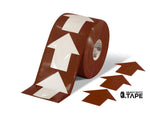 5.5 Wide Solid Brown Arrow Roll 200 Arrows Product