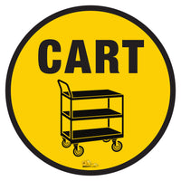 "Push Cart Mighty Line Floor Sign, Industrial Strength, 36"" Wide"