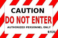 Caution Do Not Enter Authorized Personnel Only 24X36 Product