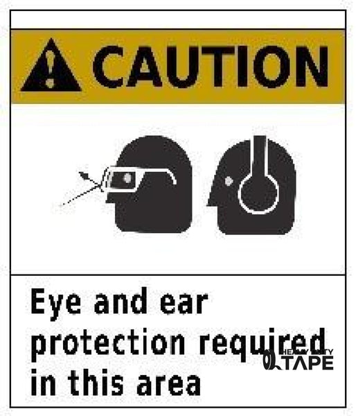 Caution Eye And Ear Protection Required In This Area 24X24 Product