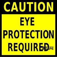 Caution Eye Protection Required 24X24 Product
