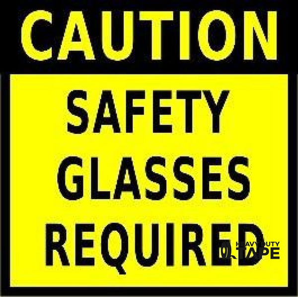 Caution Safety Glasses Required 24X24 Product