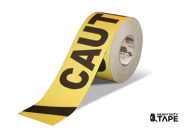 6 Wide Caution Floor Tape - 100 Roll Product