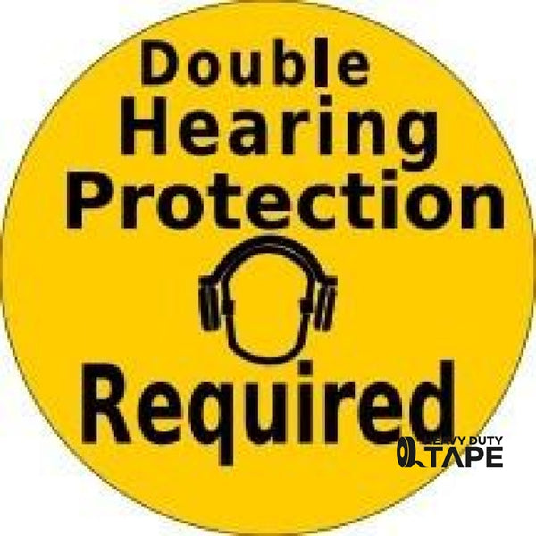 Double Hearing Protection Required - Yellow Product