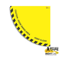 Caution Door Swing Area 36 Yellow Product
