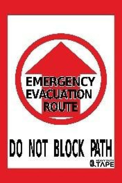 Emergency Evacuation Route Do Not Block Path Product