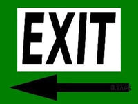 Exit Left 24X18 - Green Product