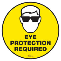 Eye Protection Required - Floor Marking Sign, 16""