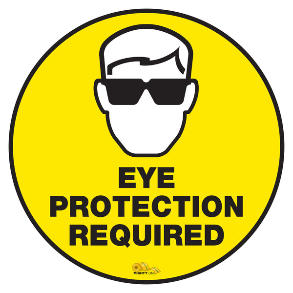 Eye Protection Required - Floor Marking Sign, 12""