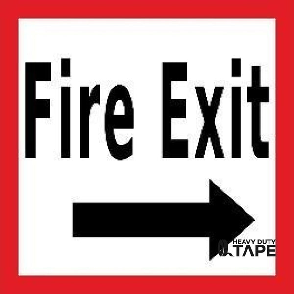Fire Exit Right 24X24 Product