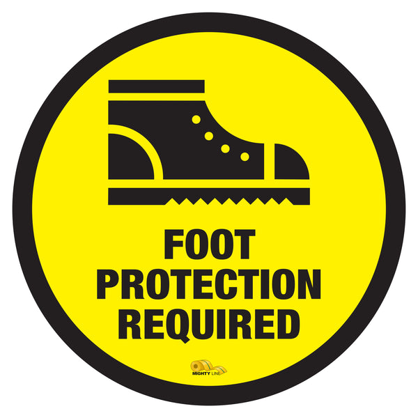 Foot Protection Required - Floor Marking Sign, 36""