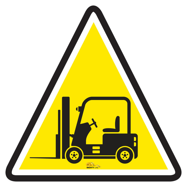 Forklift Crossing - Floor Marking Sign, 36""