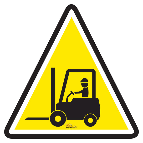 Forklift Crossing with Driver - Floor Marking Sign, 12""
