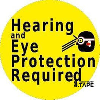 Hearing And Eye Protection Required Product