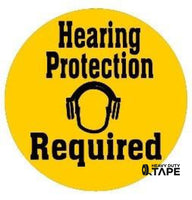 Hearing Protection Required - Yellow Product