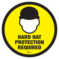 Hard Hat Required - Floor Marking Sign, 12""
