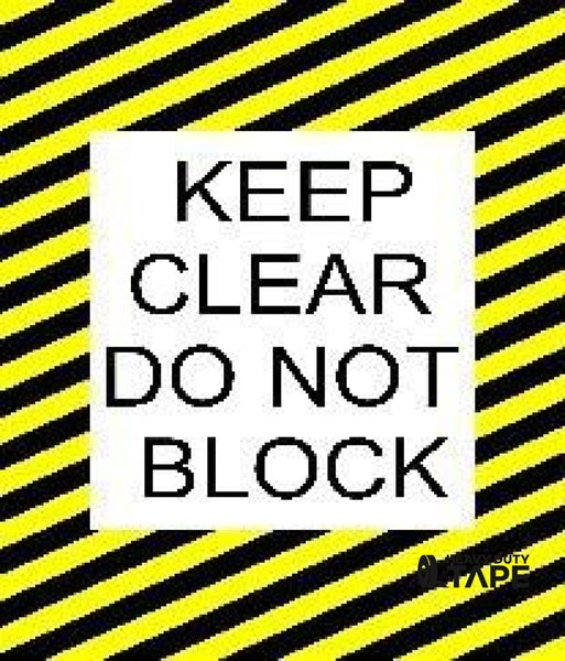 Keep Clear Do Not Block 24 X Product