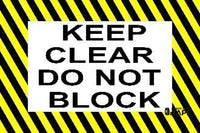 Keep Clear Do Not Block 36 X 24 Product