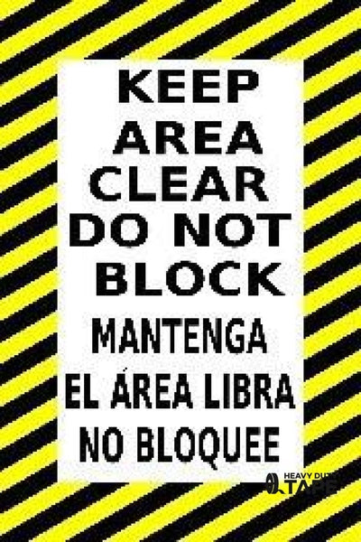 Keep Clear Do Not Block Spanish Product